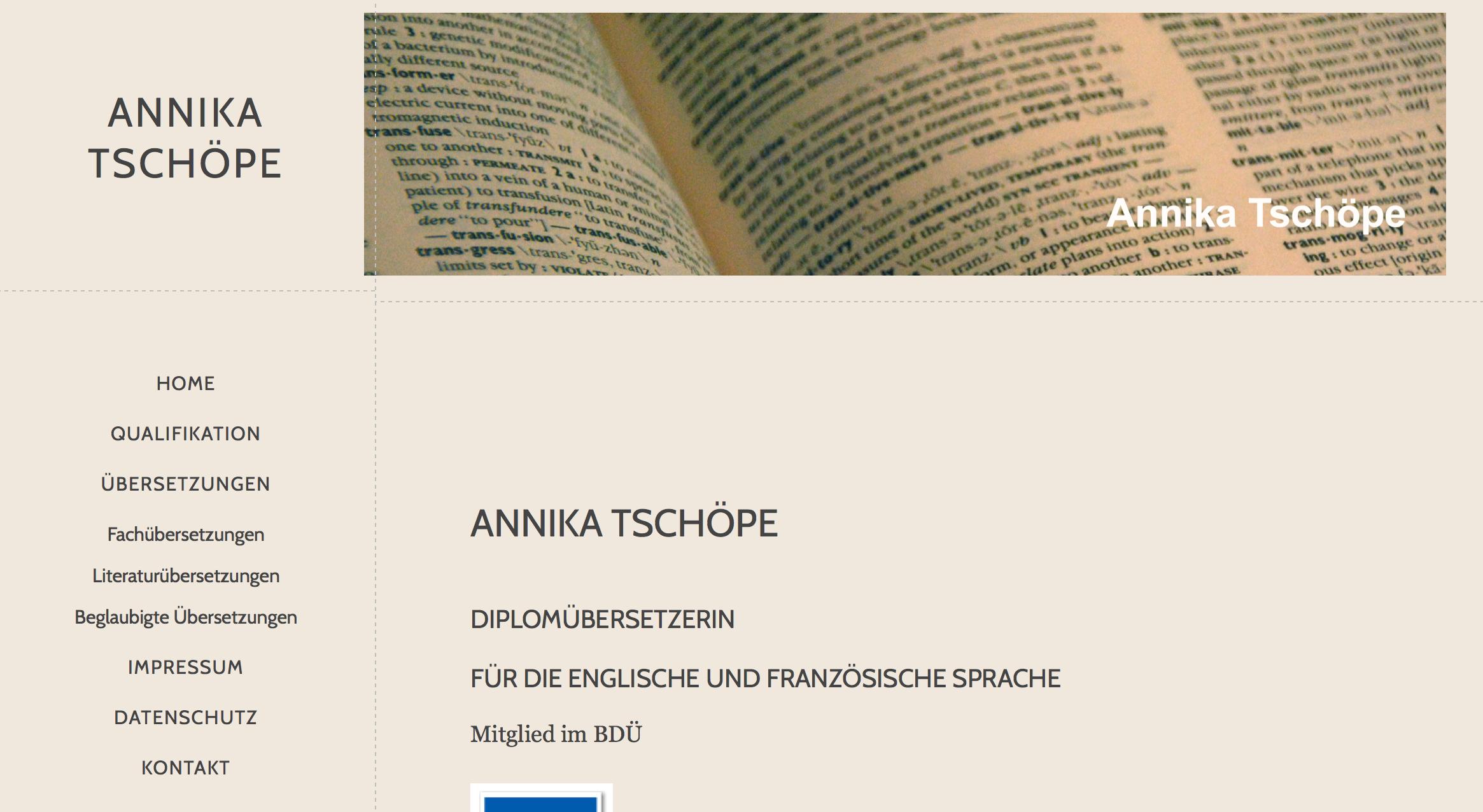 Annika Tschöpe Übersetzungen, Lünen