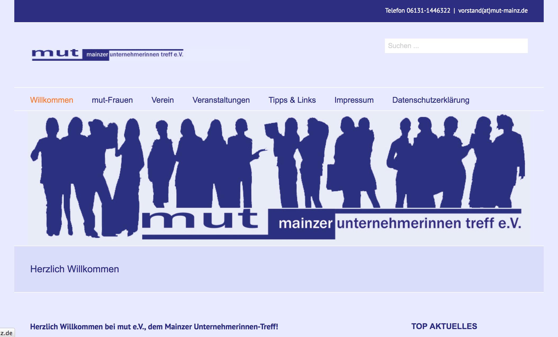 Mut … Mainzer Unternehmerinnen Treff