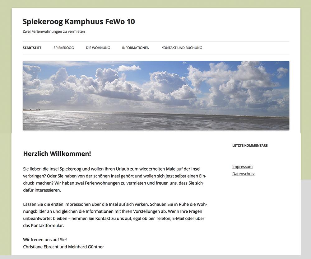 Kamphuus-Fewo10, Spiekeroog