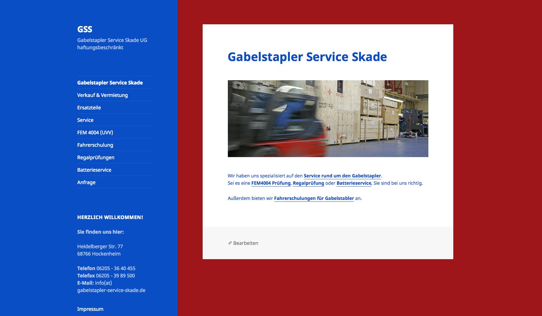 Gabelstapler Service Skade, Hockenheim