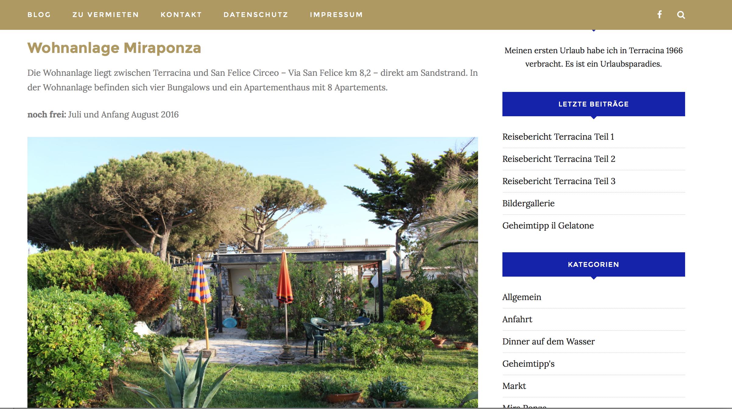 Terracina – Der Urlaubsort Südlich Von Rom