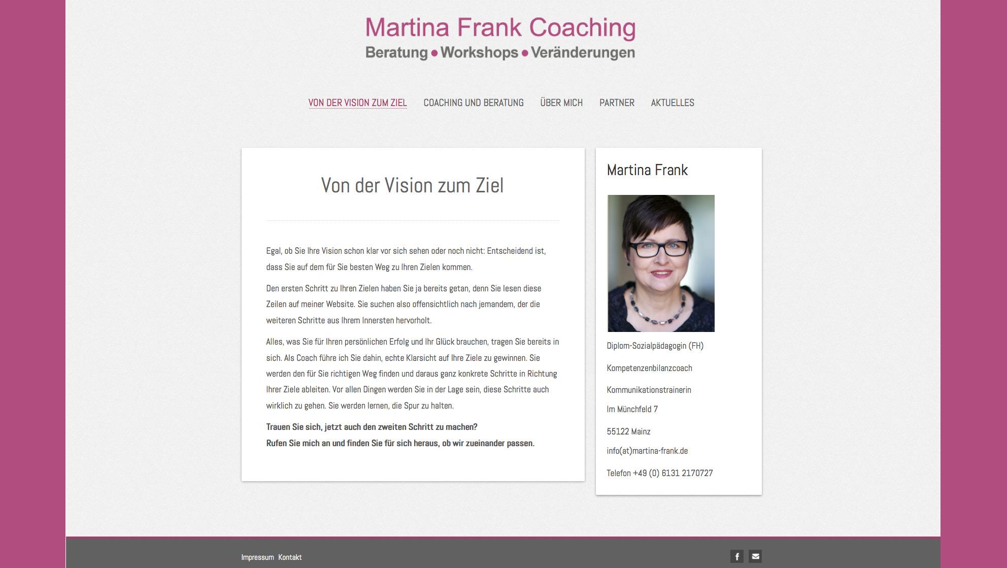 Martina Frank – Coaching / Mainz