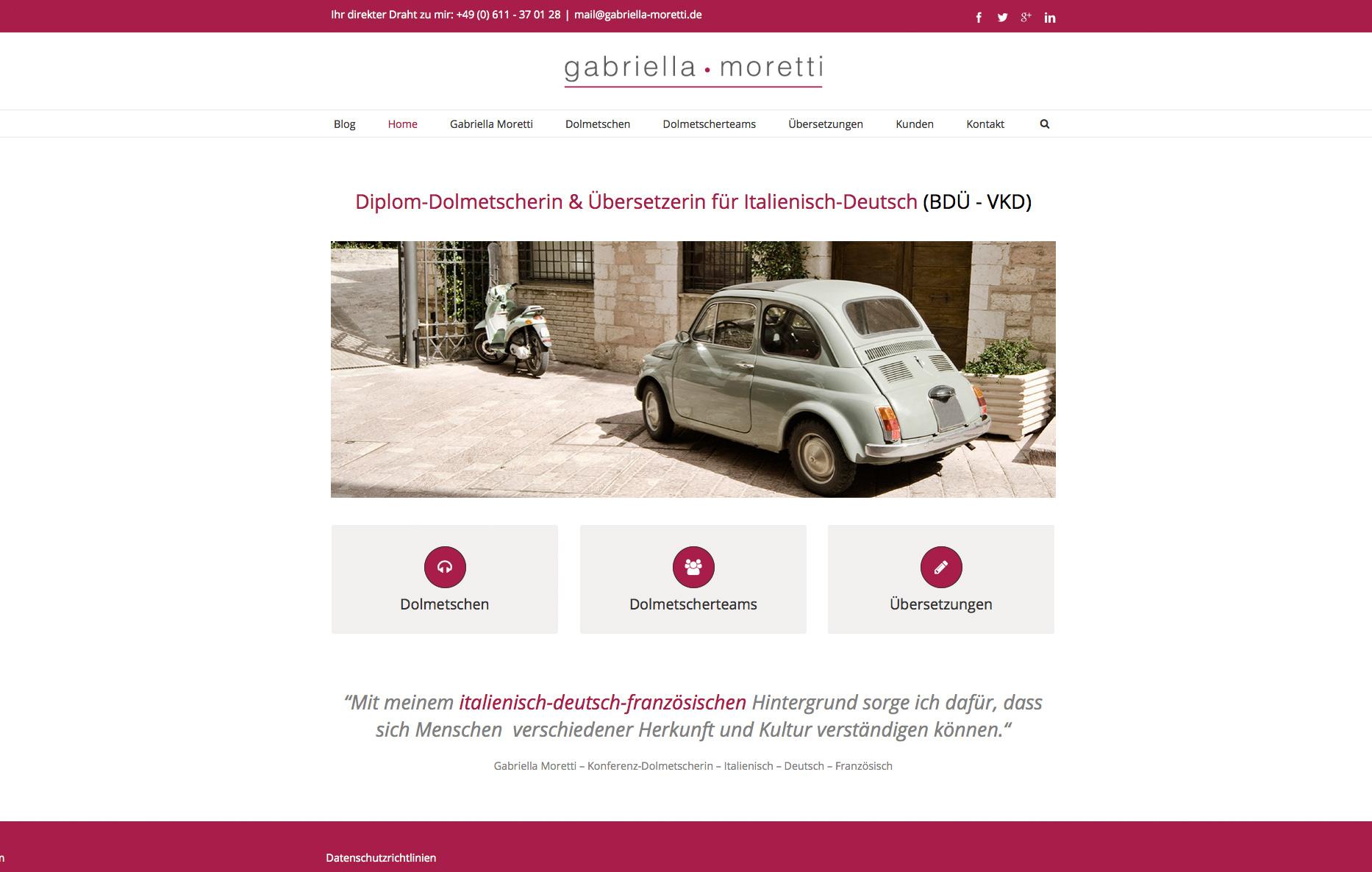 Gabriella Moretti – Dolmetscherin