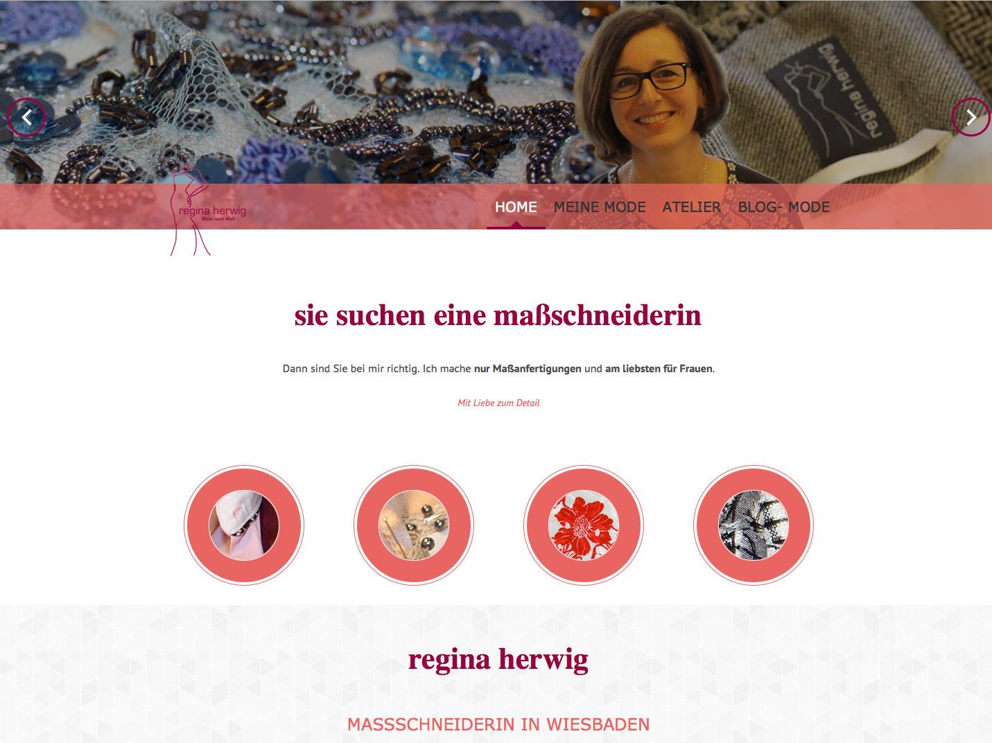 Regina Herwig, Maßschneiderin