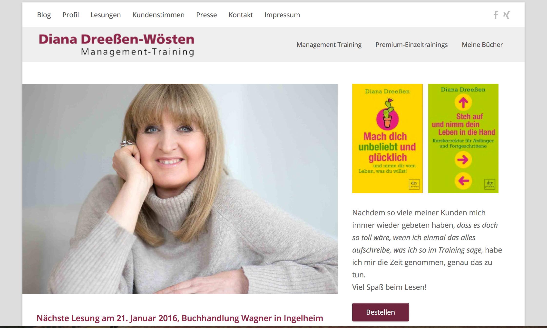 Diana Dreeßen-Wösten, Managementtrainerin