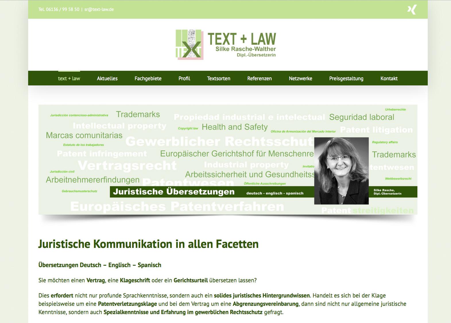 Silke Rasche, Text + Law – Fachübersetzungen