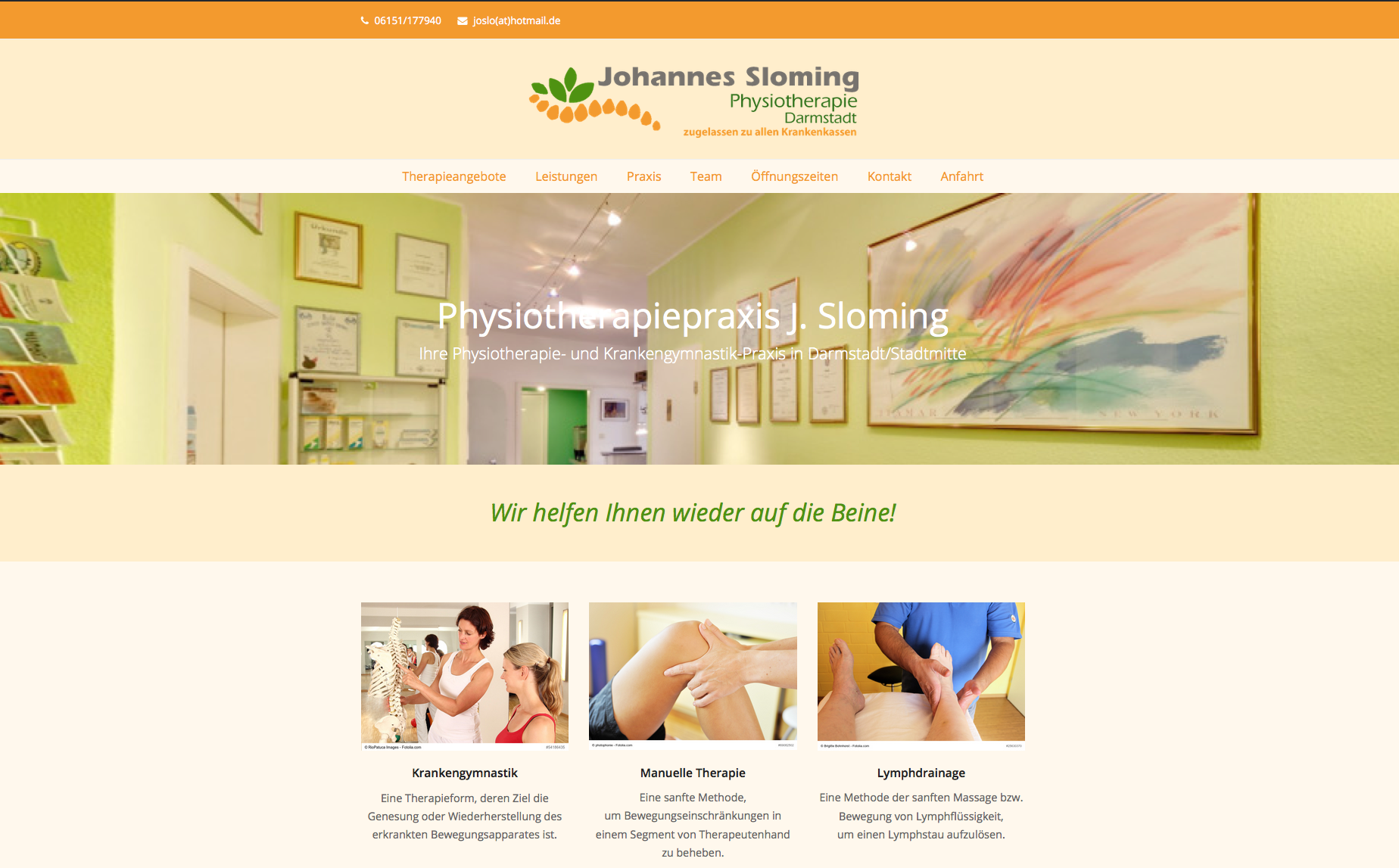 Physiotherapiepraxis Sloming