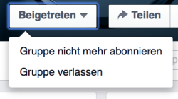 Facebook Gruppe verlassen