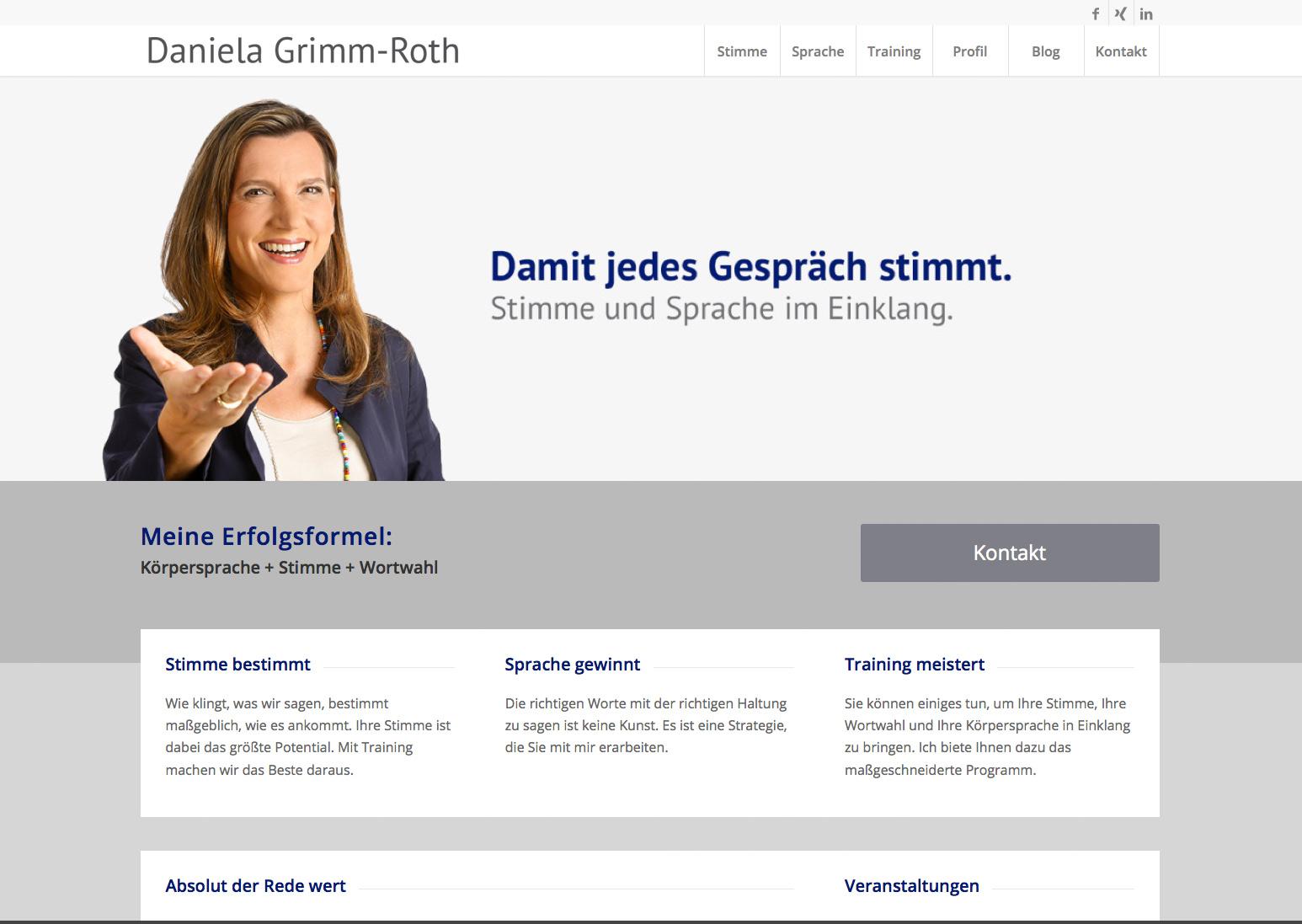 Daniela Grimm-Roth, Damit Jedes Gespräch Stimmt.