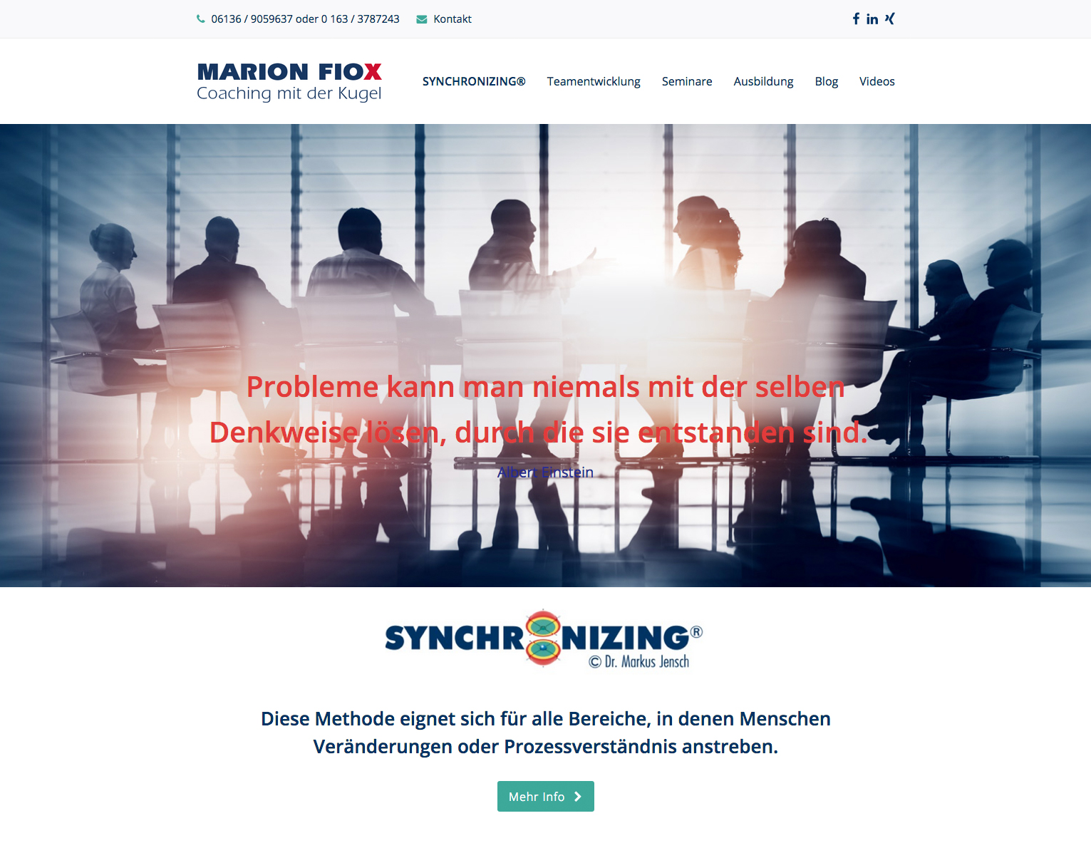 Marion Fiox, Synchronizing-Mainz
