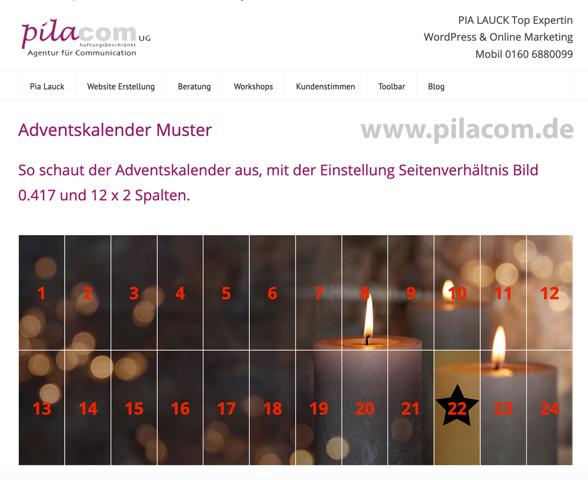 WordPlugin Adventskalender