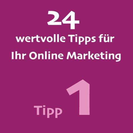 Tipp 1 Onlinemarketing