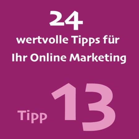 Tipp13 Onlinemarketing