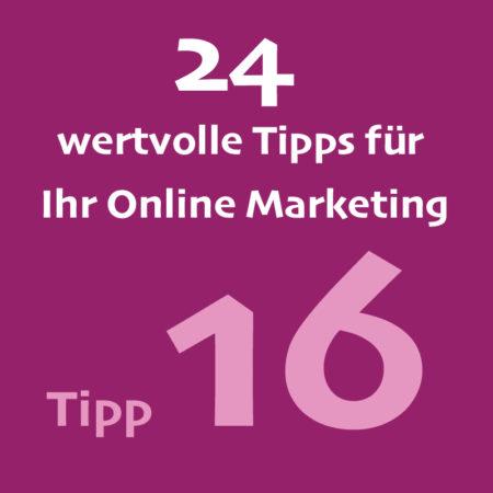 Tipp16 Onlinemarketing