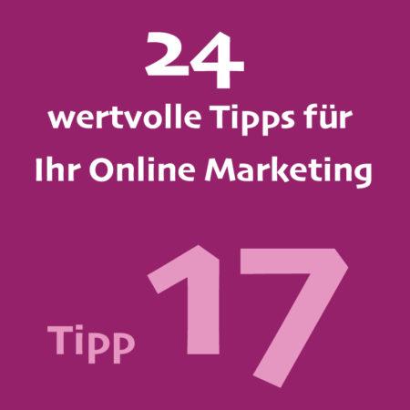 Tipp17 Onlinemarketing